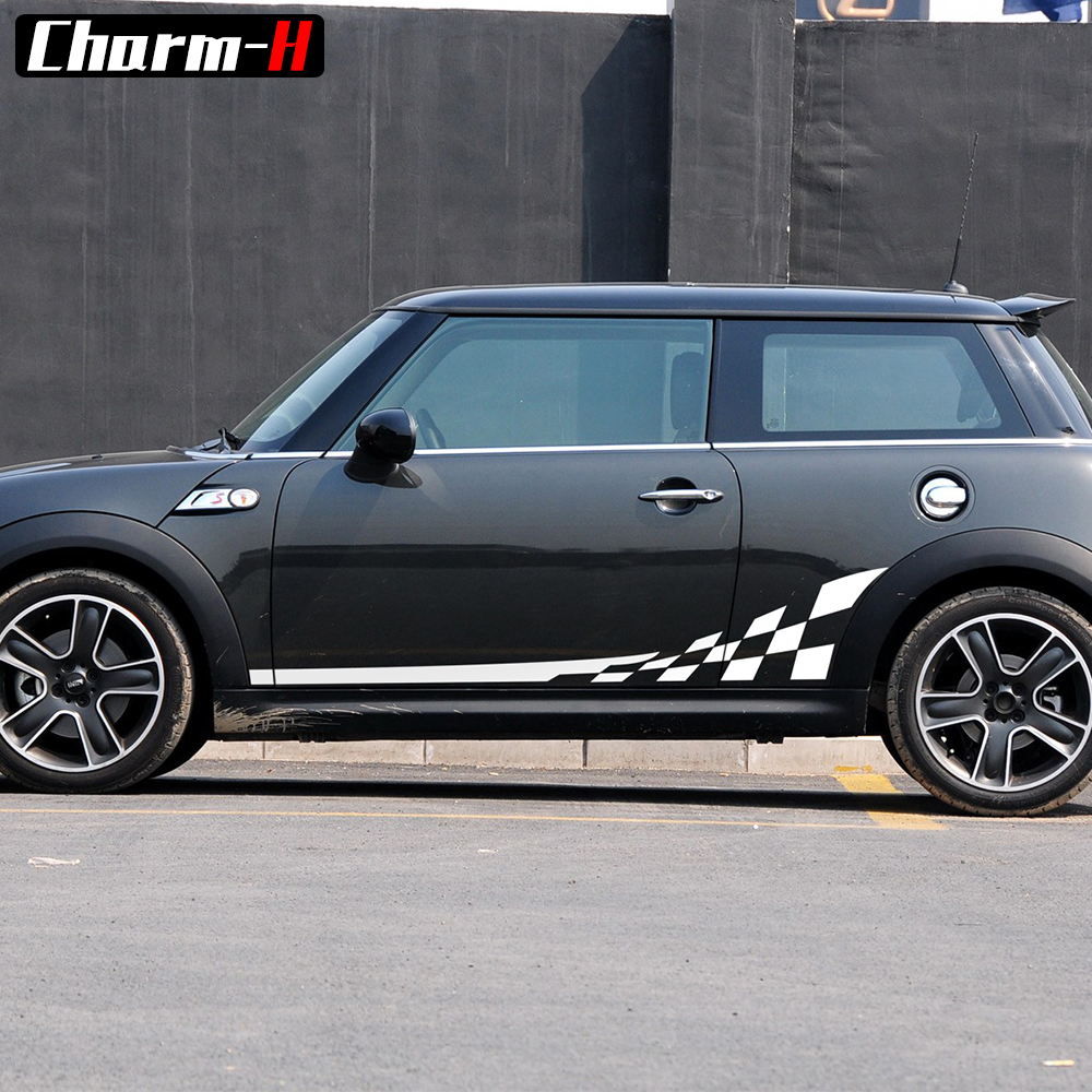 Black//Gold Union Jack UK Flag ABS Sticker Cover Trim Cap for Mini Cooper ONE S JCW R Series R60 Countryman R61 Paceman 2010-2016 Door Handle with Key Hole 4 Pieces