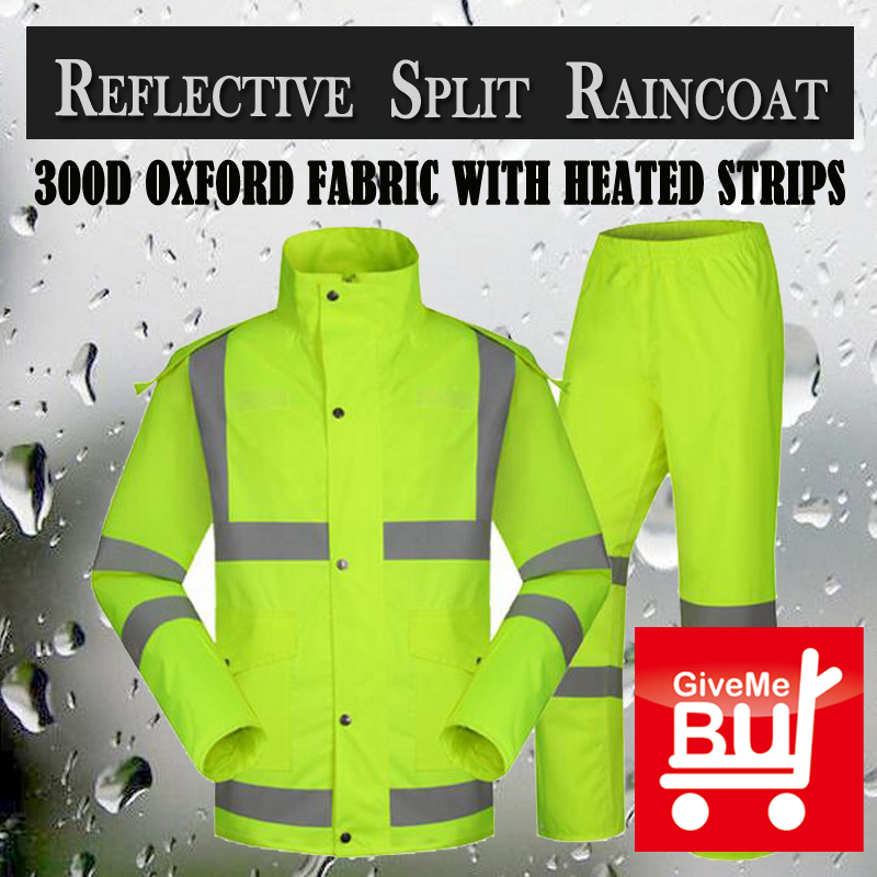 SPARDWEAR waterproof high visibility reflective safety rainsuit jacket and pant fluorescent yellow split raincoat  free shipping ccgk safety clothing reflective high visibility tops tee quick drying short sleeve working clothes fluorescent yellow workwear