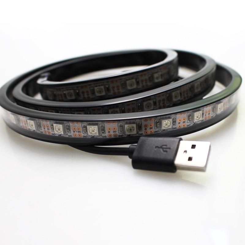 1 M IP67 tube wodoodporna taśma led USB Światła 60 leds DC 5v 5050 - Oświetlenie LED - Zdjęcie 4