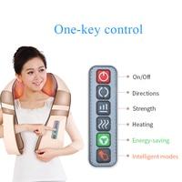 JinKaiRui U Shape Electrical Shiatsu Back Neck Shoulder Massager Body Spa Infrared 4D Kneading Massagem Car