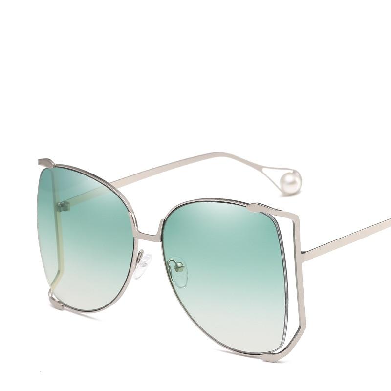 Grande Rosa grigio colore Gradiente Occhiali blu Retro Sole Cornice Silver clear Donne Buona Fashion Frame viola tea Eleganti Verde Oro Uv Da Protezione Qualità Di 1qwxROXB