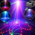 Eshiny 500Mw RGB 5 Lens 80 Patterns Laser Projector Blue Led Club Home Party Bar DJ Holiday Disco Xmas Dance Lighting Light T67