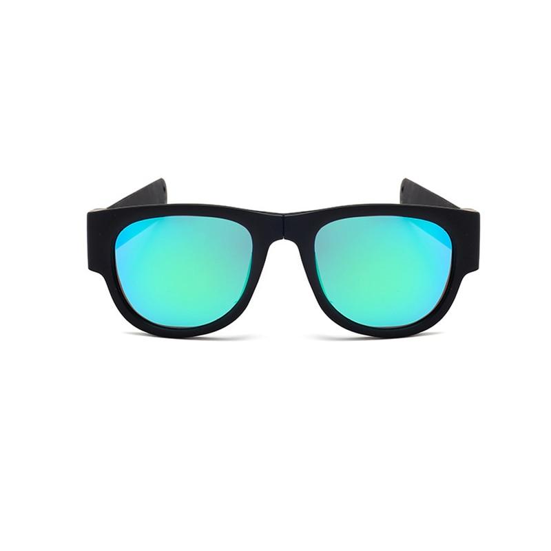 a7a4e21c10e Mini Folding Polarized Sunglasses Women Men Cool Trendy Cycling Outdoor  Sport Slap Sunglasses UV400 Black Frame