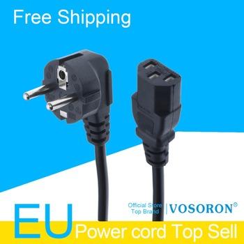 1 5m IEC320 C13 na europejski 2-pinowy okrągły linii zasilania kable Schuko CEE7 7 kabel zasilający IEC320 C14 VDE przewód zasilający tanie i dobre opinie VOSORON Elektroniki użytkowej CEE77A-C13-150 CCA
