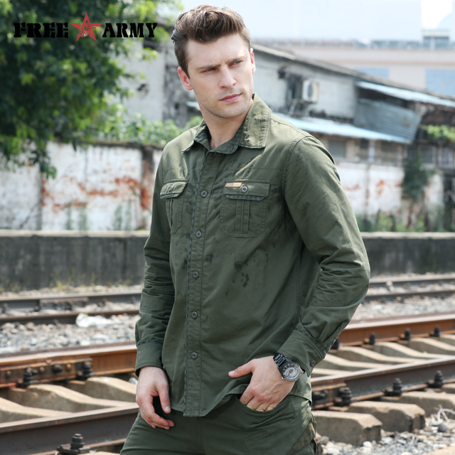 Army Pattern Men's Shirt 1