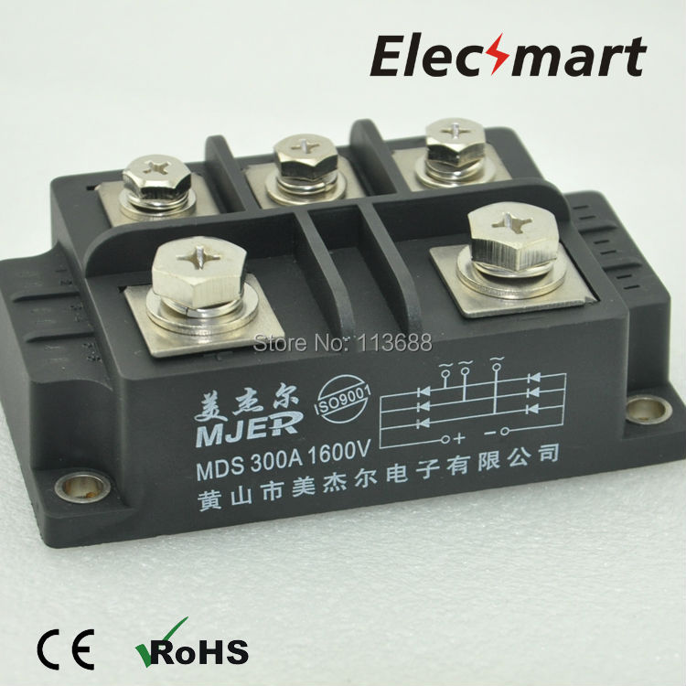 Three Phase BRIDGE RECTIFIER MODULE MDS300A 1600V 5pcs lot free shipping mds35e 16 three phase bridge rectifier rectifier 35a 1600v new quality assurance