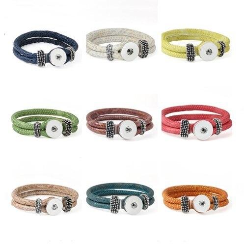 Lunghezza Customed 11 colori braccialetto per le donne 18mm il bloomer con botto