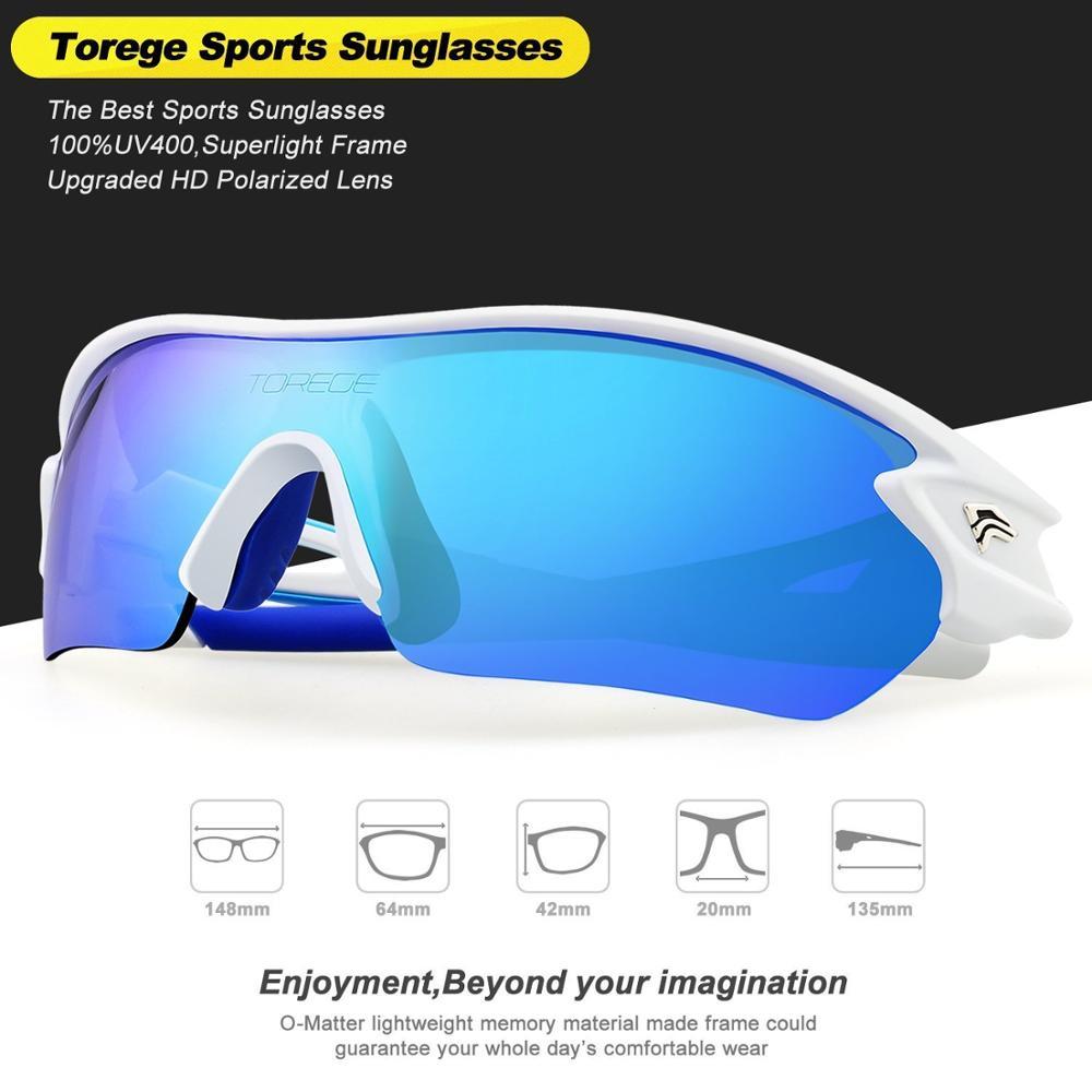 dc014e787bc Polarizadas Gafas de sol con 5 lentes intercambiables para hombres mujeres  estilo gafas UV400 protección atletas profesionales Gafas en Gafas de sol de  ...