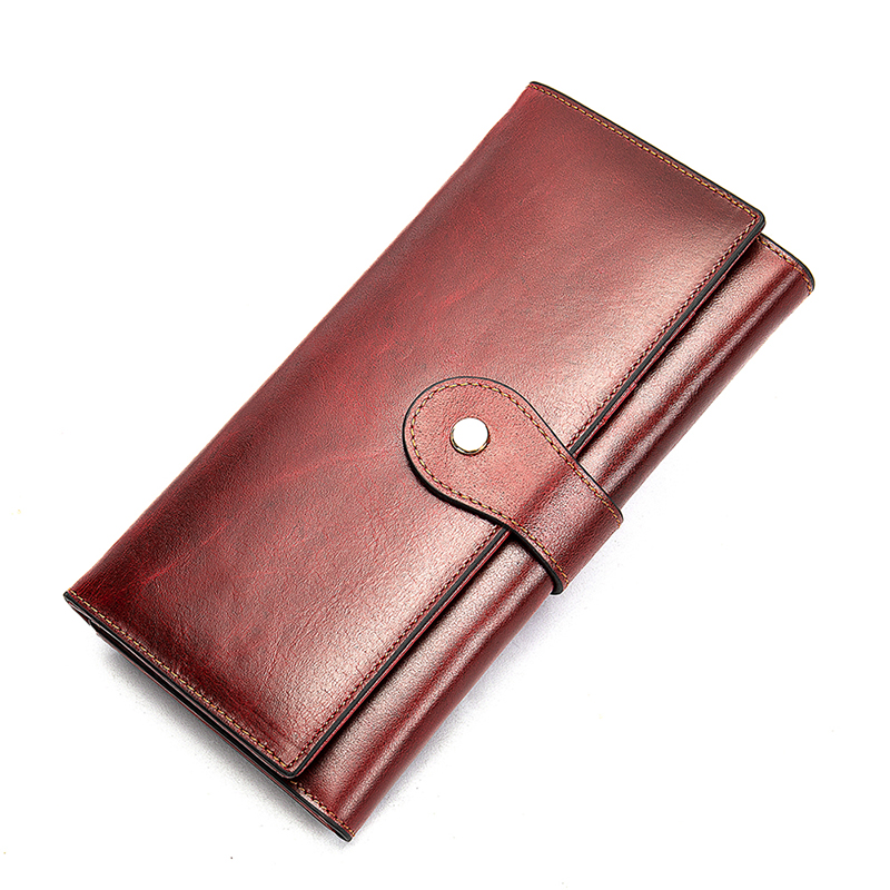Image 3 - WETSAL 100% Genuine Leather Women Wallet Female Long Clutch Lady Walet Portomone Money Bag Coin Wallet Purse for Card/phoneWallets   -