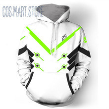 Stock Game OW GENJI D.VA Cosplay Costumes halloween Hoodies Sweatshirt top DVA