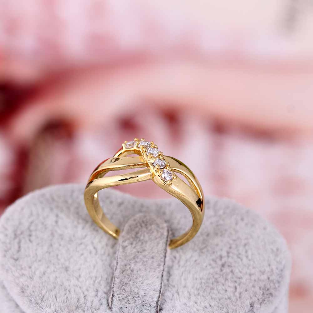 Exquisite Women Rings Wave Shaped Wedding Ring Inlay Crystals Zircon Jewelry Valentine S Day Gift Sl In Bands From Accessories On