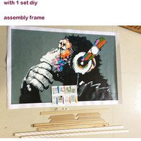 Flowers Home Decoration Canvas DIY Oil Painting By Numbers Dream Drawing Paint Wall Art Coloring By
