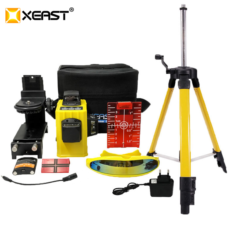 Professional XEAST XE 61A 3D Laser Levels 12 Lines Cross Level with Tilt Function and Self Leveling Outdoor 360 Rotary Red Laser-in Laser Levels from Tools    1