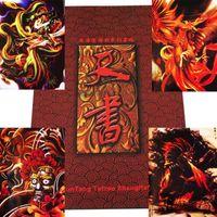 Dövme Sanatı Antik Çin Ejderha Kaplan Kuş Kaplumbağa Tanrılar Kitap Geri Kroki