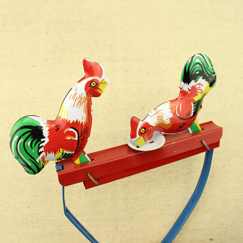 Tin Toy Vintage Chicks Gift Collectible Push-Switch Pecking New-Arrival