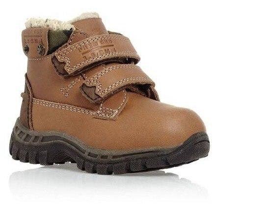 f9a5cc8d12553 Top Qualité Bébé Chaussures Mode En Cuir Véritable Bébé Garçons et Filles  Neige Bottes Avec Laine