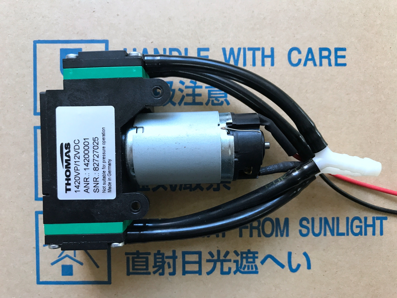 Thomas Double Head Vacuum Pump Air Pump 1420VP DC12V 14200001 free shipping gz 35b 12 12 24v dc 160w double head diaphragm vacuum pump with 70l min vacuum flow