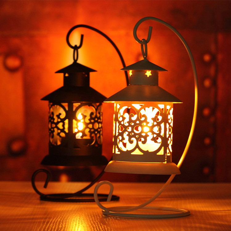1 Piece Moroccan Style Candle stick Lamp Candle holder Light Bedroom Wedding Candle decoration Holder Lantern  Vintage Small