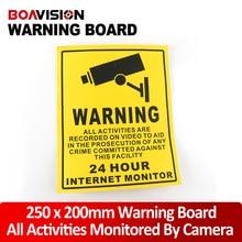 10Pcs 250*200mm Decal Sticker Warning 24HR CCTV Camera Surveillance Security Camera Sticker Warning Decal Signs