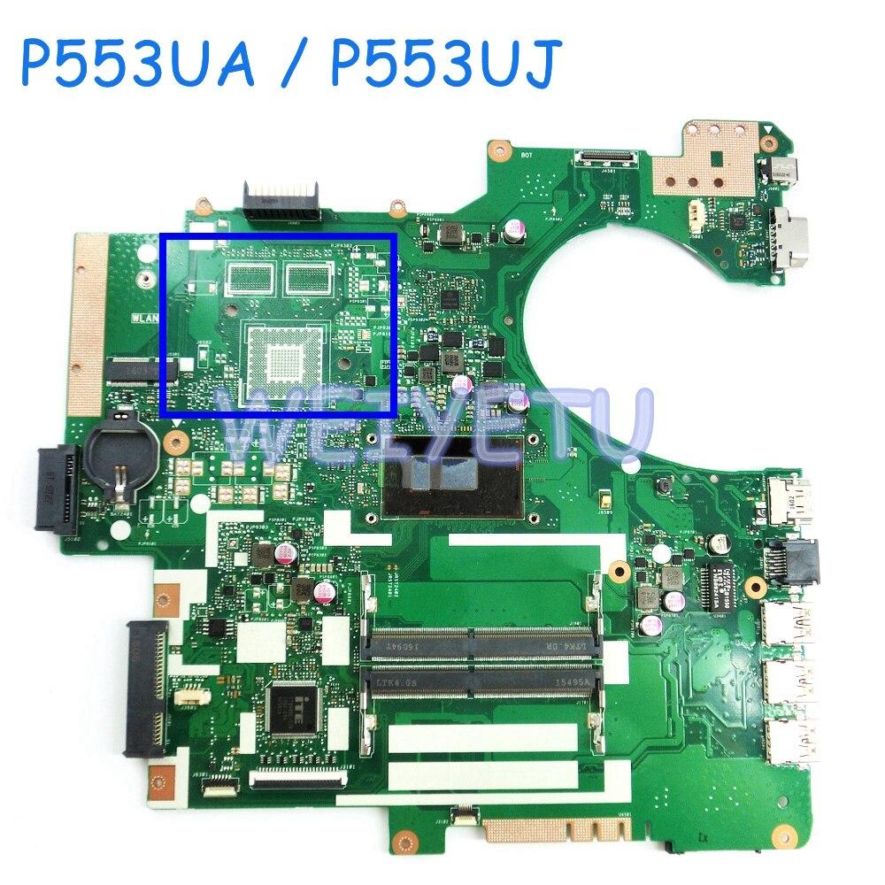 P553UA I3-6100/I7-6500 carte mère CPU pour ASUS P553U P553 P553UJ ordinateur portable Intel Core 6 carte mère Rev 2.0 livraison gratuite