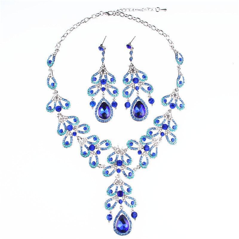 New Fasthion Hyperbole Jewelery Sets Wedding/party Women Jewelry Accessories Elegant Women Lusurious Jewelery Necklace Earrings