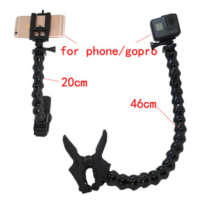 Image 4 - Jaws Flex Clamp Mount Adjustable Neck for Phone GoPro Hero 7 black 6 5 4 SJCAM sj4000 Xiomi YI 4K Sony Action Camera accessories