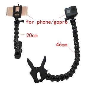 Image 4 - Jaws Flex Supporto Autoserrante Collo Regolabile per il Telefono GoPro Hero 7 nero 6 5 4 SJCAM sj4000 Xiomi YI 4 K Sony Macchina Fotografica di Azione di accessori