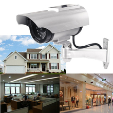 Solar Powered Fake Dummy Camera Bullet Outdoor Waterproof Security Indoor CCTV Surveillance With Flashing Red LED kamera