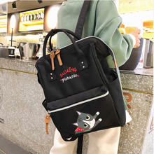 Cute Cartoon Letter Print Backpack Casual Women Backpacks Campus Student Schoolbag For Girl Large Capacity Lady Travel Back Pack