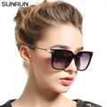 SUNRUN Fashion Luxury Brand Square Sunglasses Women Mirror Sun glasses Designers Women's Sunglasses Oculo de sol feminino T6135