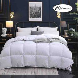 Chpermore 95 % White Goose/Duck Down Quilt Duvets Thickening Winter Comforters 100% Cotton Cover King Queen Twin Full Size