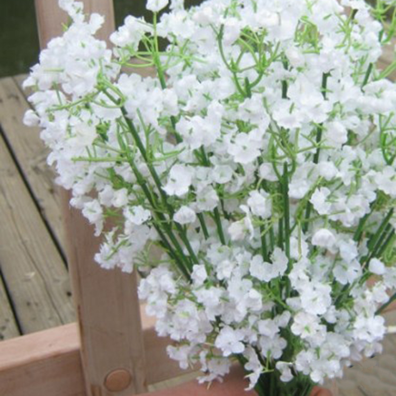 Rustic Artificial Flowers White Gypsophila 8