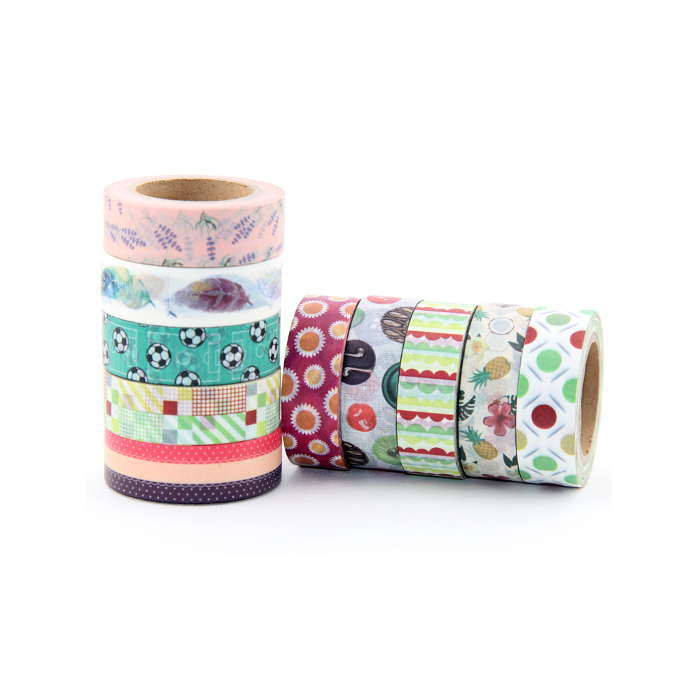 New 10M DIY Cute Kawaii Unicorn Washi Tape cute animal, leaves, football Masking Tape For Home Decoration Scrapbooking Diary