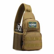 Outdoors Waterproof Men Oxford Shoulder Messenger Crossbody Bag Military Tactics Chest Pack With Bottle Bag Male Back Pack