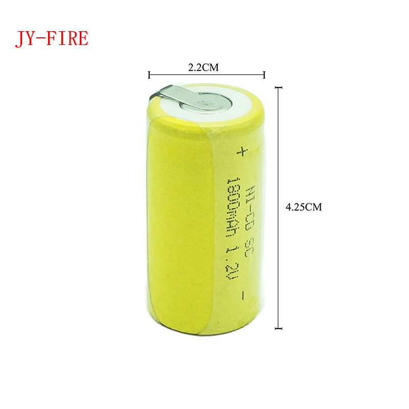 8pcs High quality battery rechargeable battery sub c battery SC battery replacement 1.2 v with tab 1800 mah