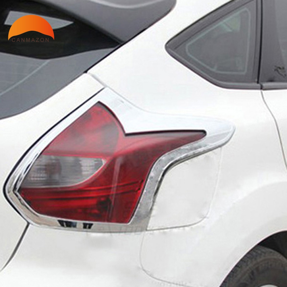 Buy For Ford Focus 3 2012 2013 5dr Hatchback Chrome 2014 Frame Abs Rear Tail Light Lamp Rearlights Cover Trim Car Accessories Styling Molding From