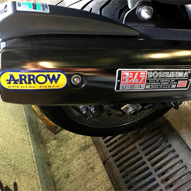 3D aluminium żaroodporne motocykl rura wydechowa naklejka naklejka dla Yoshimura Yamaha Honda Suzuki Kawasaki KTM BMW strzałka SC