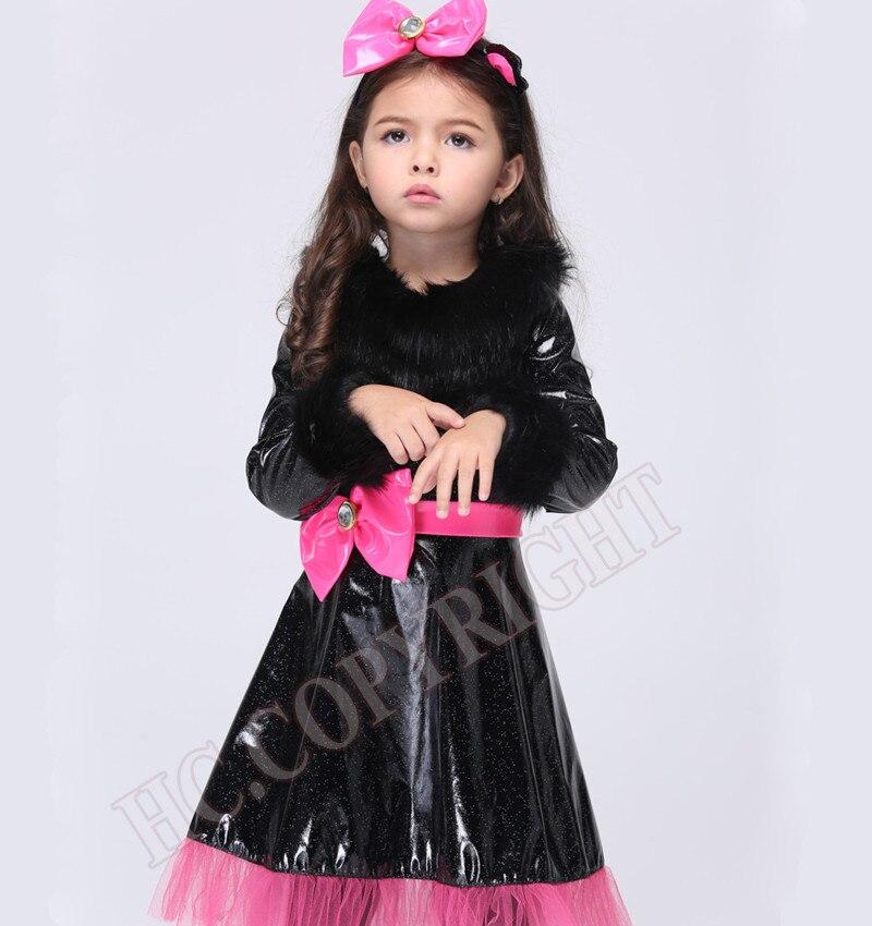 halloween christmas costumes cosplay cute kids girls cat kitty princess catwoman style dress children costume sets