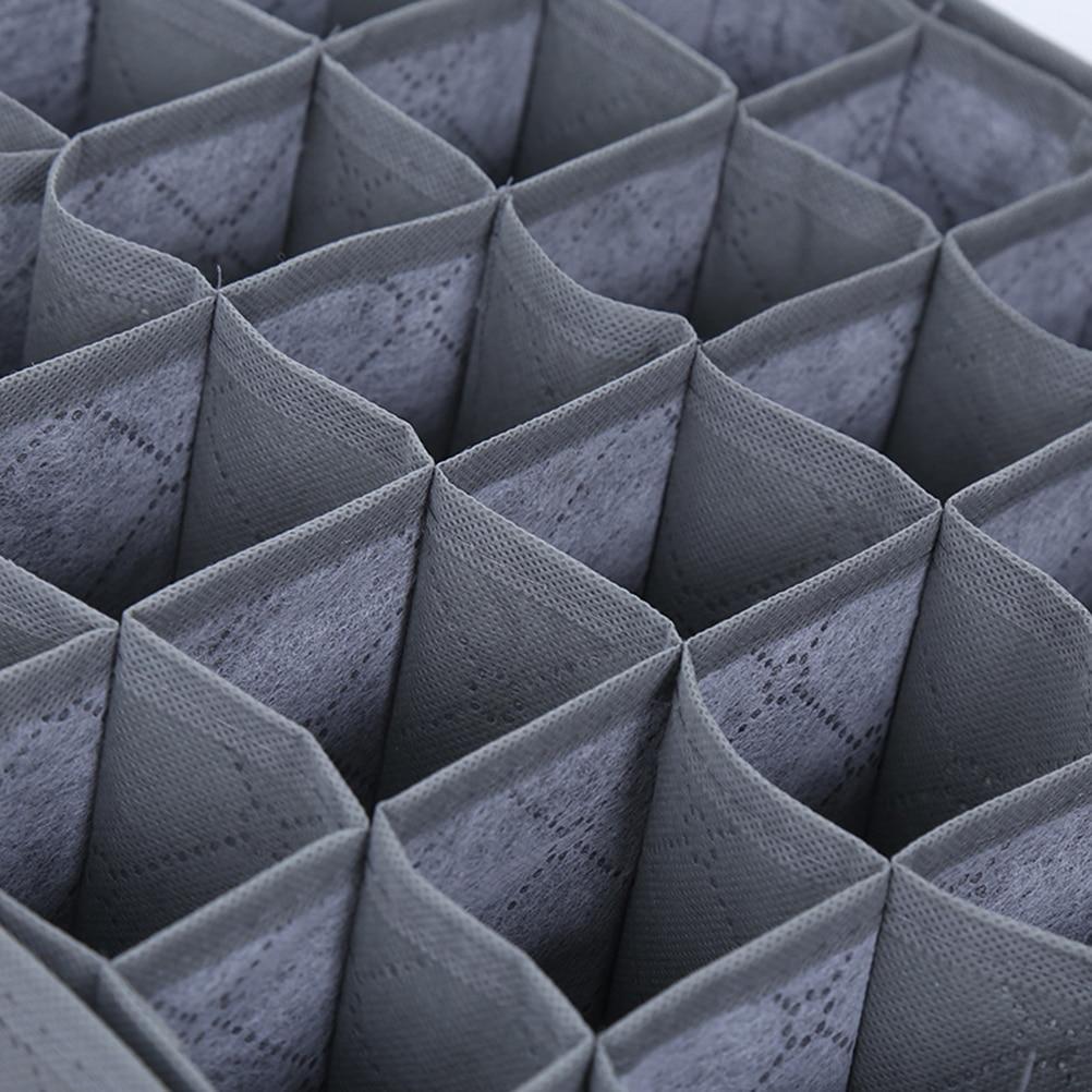 OUNONA для хранения 30 сетки Коробки бюстгальтер нижнее белье Шкаф Организатор разделитель нижнее белье коробка галстук отделка Коробки