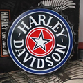 """Sinal da lata """"HARLEY DAVIDSON"""" Do Vintage Pintura de Ferro Ornamento de Suspensão da Tampa de Cerveja Bar KTV Decor Mural Retro Poster Metal Adesivos de parede"""