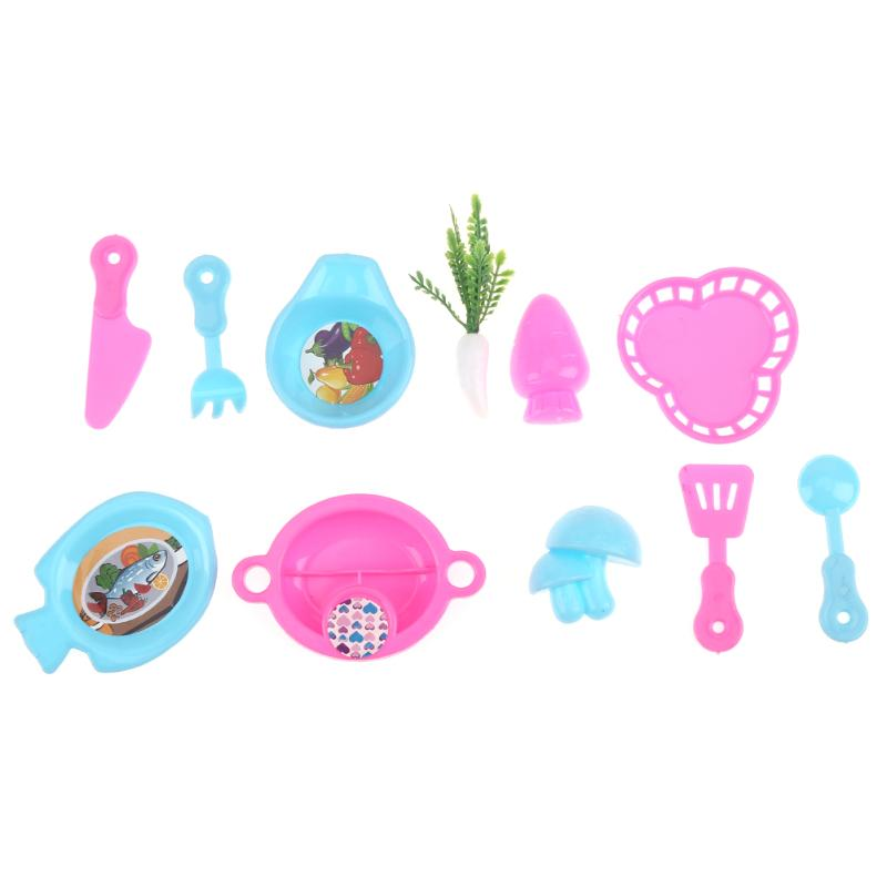 Lovely Kitchen Tableware Doll Accessories For Barbie Doll Girls doll play role toys Kids Play House Dolls Furniture Accessories ...