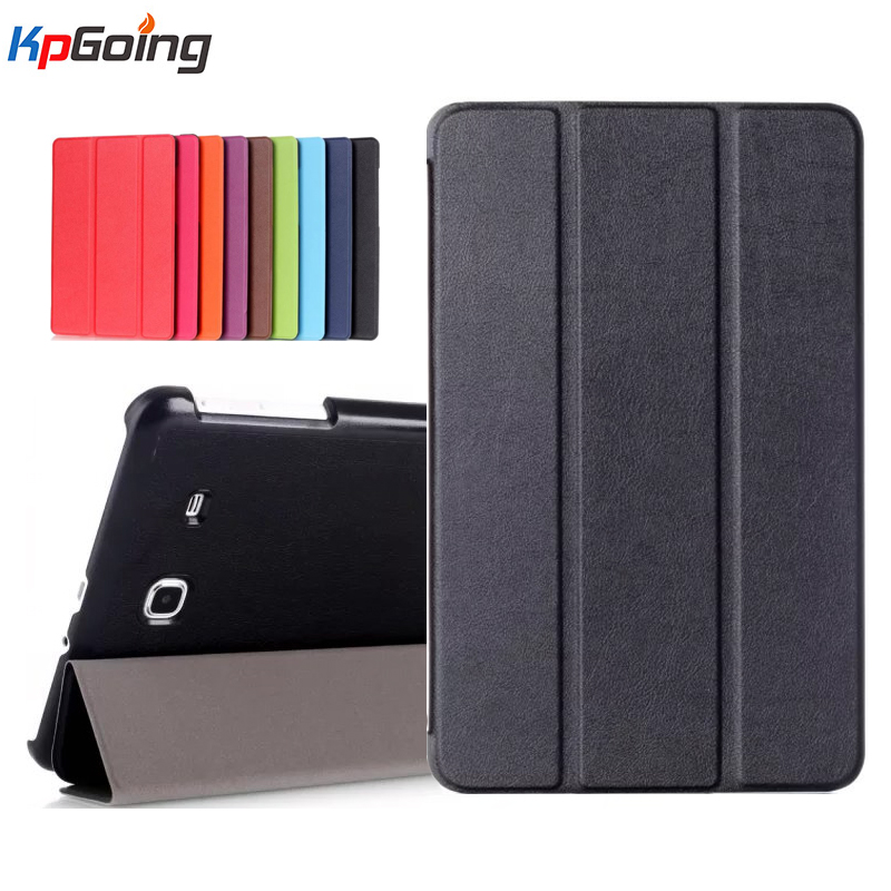 New 3 Folding Folio Leather Case for Samsung Galaxy Tab E 9.6 Inch with Stand Function for Samsung SM-T560 SM-T561 Sleeves Cover планшет samsung galaxy tab e 9 6 8gb 3g black sm t561
