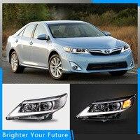 Для Toyota Camry 2012 2013 2014 светодиодный фары фар спереди сборки лампы DRL L + R