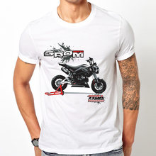 MOTO GP campeon chemise Honda GROM 125 impression T-Shirt hommes à manches courtes MOTO amoureux hauts blanc hipster cool Tee(China)