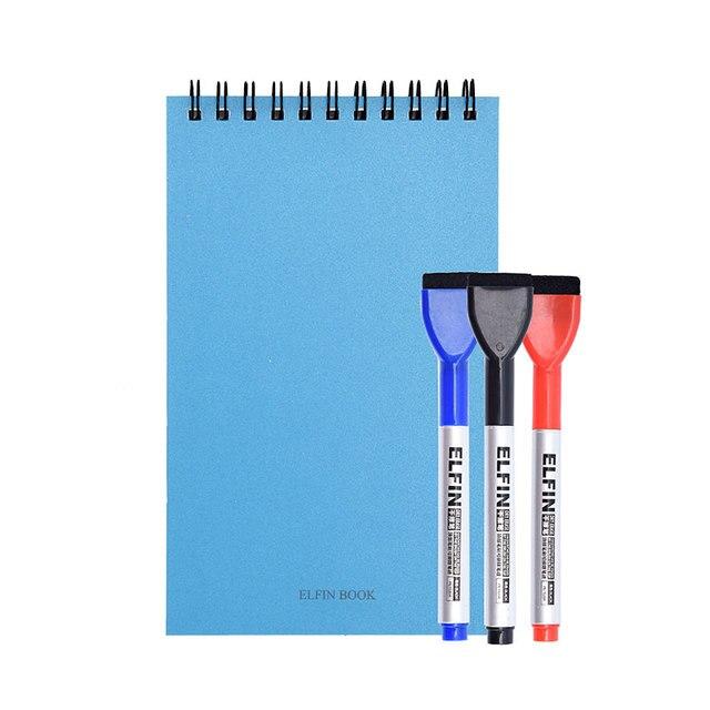 Elfinbook Reusable Eraserable Smart Note Memo Pad Mini Notebook Notepad Elfinbook APP with 3 Pens