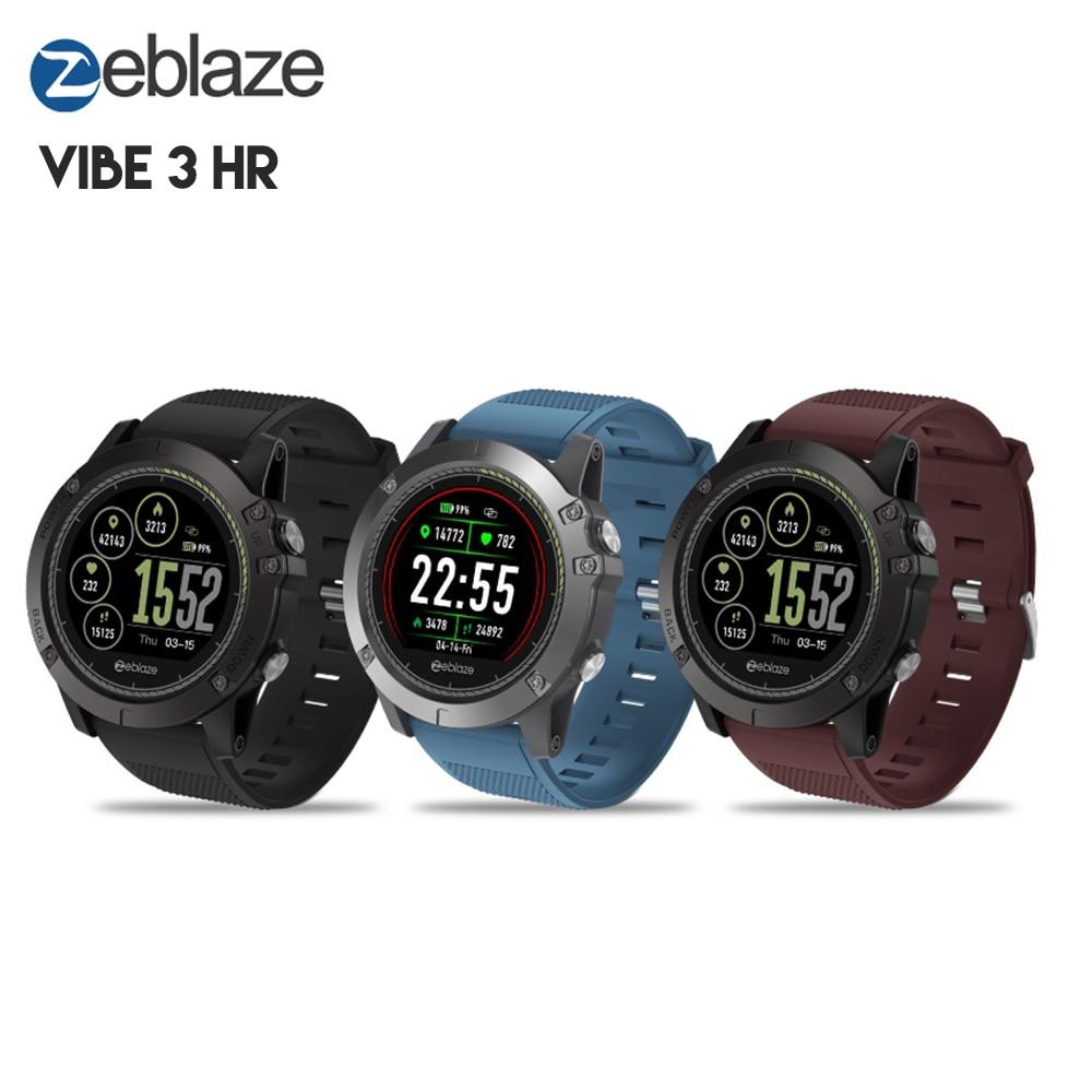 Original Zeblaze VIBE 3 HR reloj inteligente deportes Smartwatch Bluetooth IP67 impermeable Monitor de ritmo cardíaco sangre presión funciones