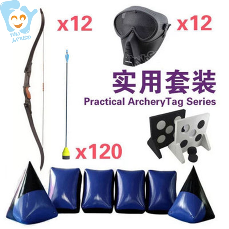 Arrows Archery Tag Bow Practical Equipment Set Shooting Target Shoot Playground Accessory Outdoor Fun Sports Game