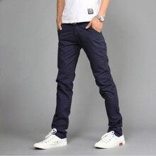 Casual Men pants Cotton Slim Pant Straight Trousers