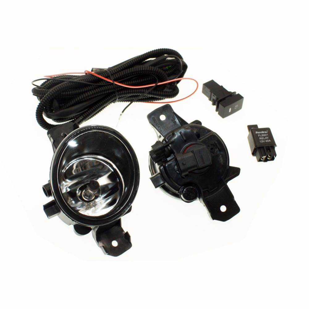 For Renault Laguna Sport Tourer H11 Wiring Harness Sockets Wire Connector Switch + 2 Fog Lights DRL Front Bumper Halogen Lamp for nissan note e11 mpv 2006 2015 h11 wiring harness sockets wire connector switch 2 fog lights drl front bumper led lamp