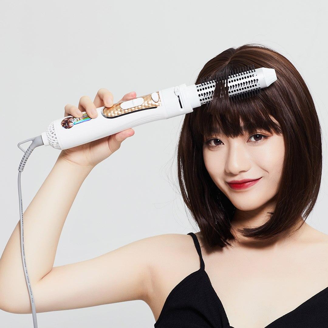 YOUPIN Wellskins 4 en 1 Ion négatif Kit de peigne à Air chaud sèche-cheveux sèche-cheveux sèche-cheveux redresser Curl